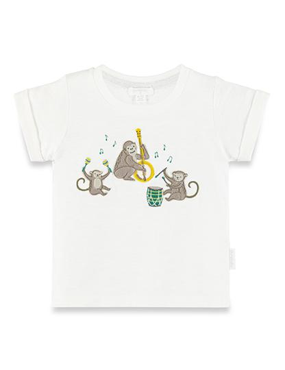 Purebaby 有機棉猴子樂園短T