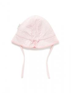Purebaby 有機棉遮陽帽-粉紅色
