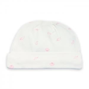 Deux Filles有機棉嬰兒帽-粉色貝殼