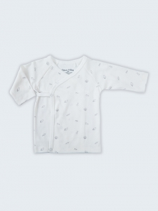 Deux Filles有機棉側開襟肚衣-灰色貝殼