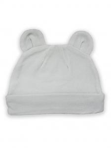 Deux Filles有機棉棉絨造型帽-淺灰純色