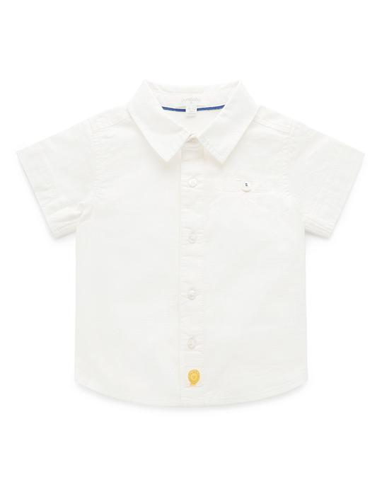 Purebaby-白色短袖襯衫