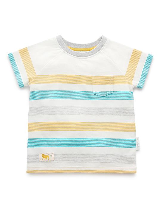 Purebaby-條紋上衣