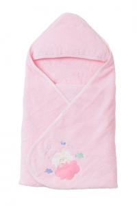 妖精之森-嬰兒包巾浴巾-粉紅小兔