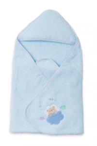 妖精之森-嬰兒包巾浴巾-藍色小熊