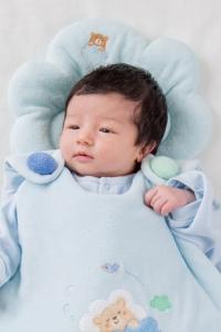 妖精之森-嬰兒睡枕-藍色小熊