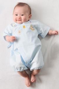 妖精之森-紗布蝴蝶衣-粉藍純色