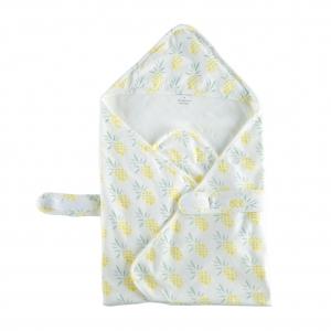 Deux Filles有機棉包巾-鳳梨圖案