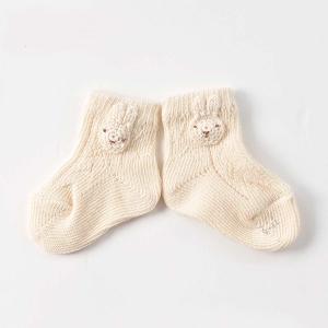Amorosa Mamma-有機棉新生兒襪 -小兔圖案