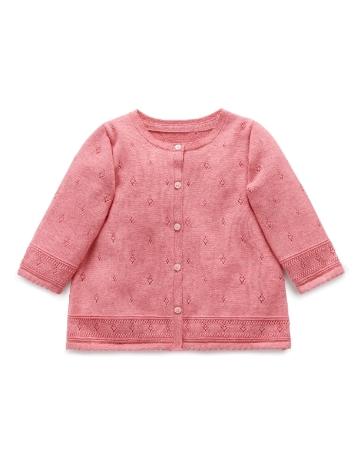 Purebaby有機棉針織外套-6M~3T