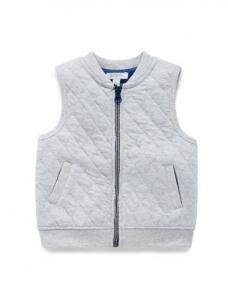 Purebaby有機棉保暖背心-12M~4T-灰色