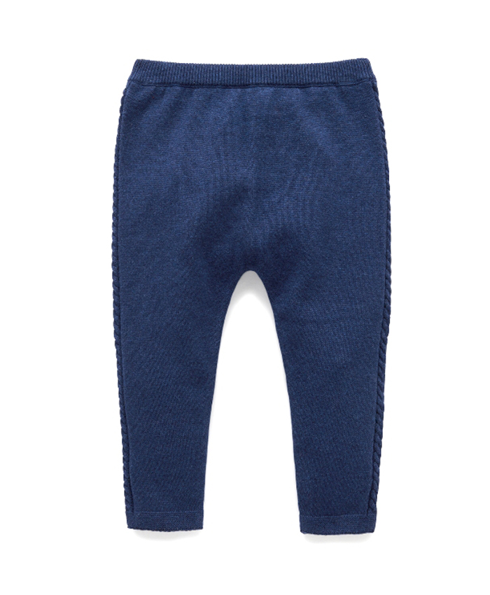 Purebaby有機棉針織貼腿褲-12M~4T