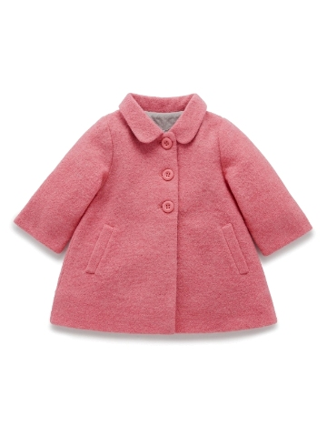 Purebaby輕盈羊毛大衣-12M~4T