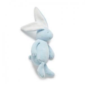 Purebaby有機棉兔子安撫玩偶-粉藍色