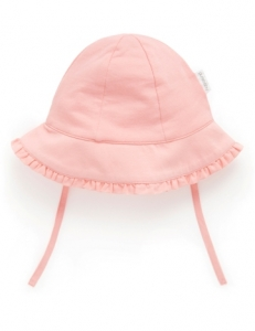 Purebaby 有機棉遮陽帽 -粉色