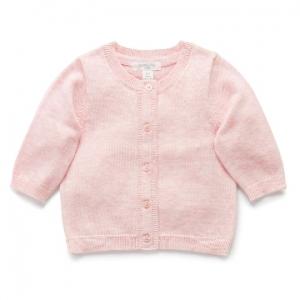 Purebaby 有機棉嬰童針織外套 -粉紅色