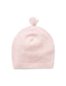 Purebaby 有機棉針織帽 -粉紅色