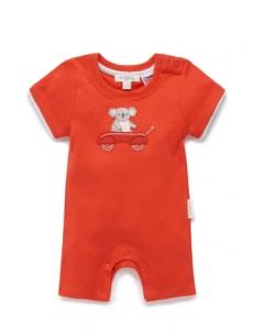 Purebaby 有機棉短袖連身裝 -無尾熊圖案