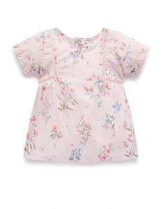 Purebaby 有機棉嬰童印花上衣-花草圖案