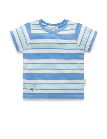 Purebaby 有機棉嬰童寬條紋上衣