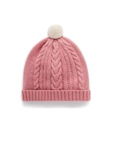 Purebaby有機棉嬰童針織帽-玫瑰粉