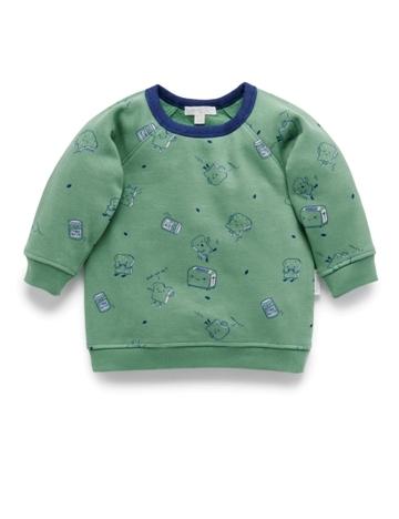 Purebaby有機棉刷毛上衣-12M~4T