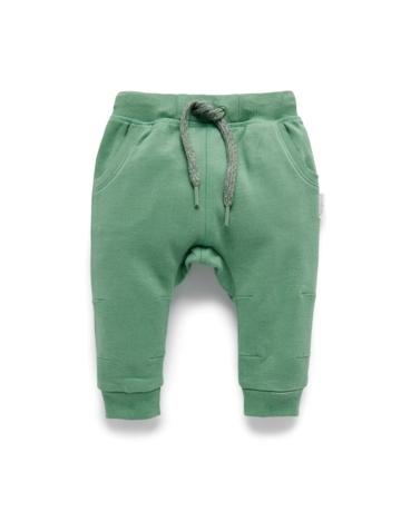 Purebaby有機棉刷毛褲子-12M~4T