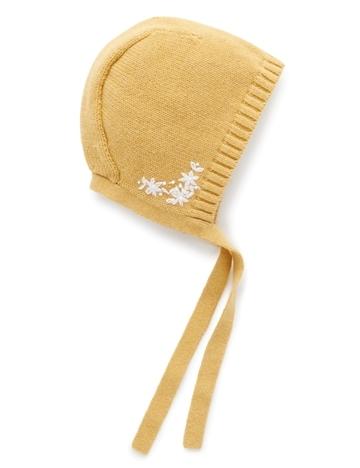 Purebaby有機棉嬰童針織帽