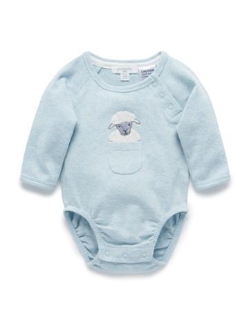 Purebaby有機棉嬰童長袖包屁衣