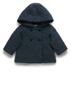 Purebaby有機棉嬰童鋪綿外套-藍色