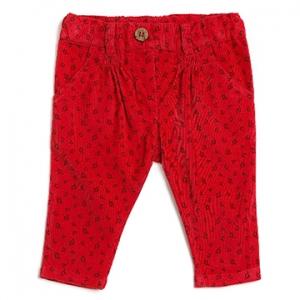 Purebaby有機棉休閒褲-紅色