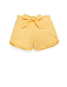 Purebaby 有機棉短褲-黃色