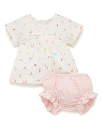 Purebaby 有機棉嬰童短袖套裝