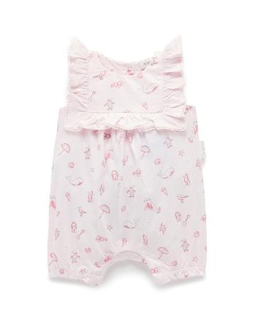 Purebaby 有機棉嬰童短袖連身裝