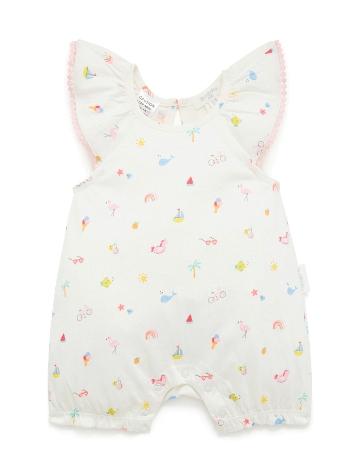 Purebaby有機棉嬰童短袖連身裝