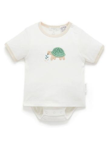 Purebaby 有機棉嬰童短袖包屁衣