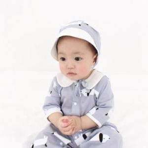 Merebe嬰兒連身裝-小狗圖案