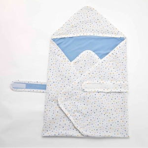 Deux Filles有機棉包巾-星星圖案
