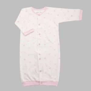 Deux Filles有機棉兩用連身裝-粉色貝殼印花