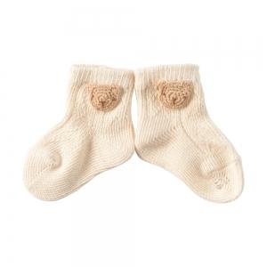 Amorosa Mamma-有機棉新生兒襪 ( 小熊圖案 )-小熊圖案