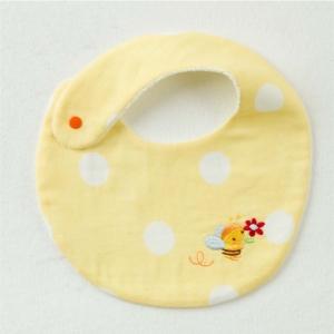 【妖精の森】蜜蜂刺繡圍兜-黃色蜜蜂