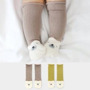 Merebe嬰童及膝襪-芥末黃