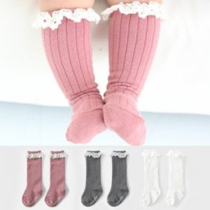 Merebe嬰童及膝襪-粉色