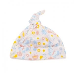 Deux Filles有機棉帶結嬰兒帽-蝴蝶印花