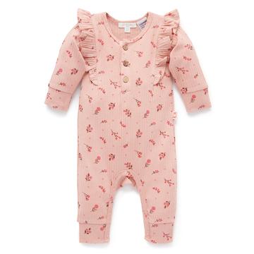 Purebaby有機棉嬰童長袖連身裝3M~18M