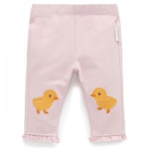 Purebaby 有機棉嬰童棉褲-小鴨圖案