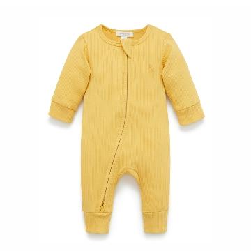 Purebaby有機棉嬰童拉鏈連身裝