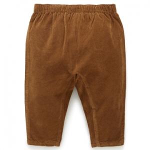 Purebaby 有機棉嬰童棉褲-咖啡色