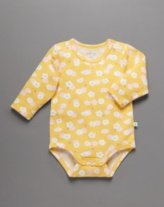 Little Green & Co 有機棉包屁衣 -黃色花朵