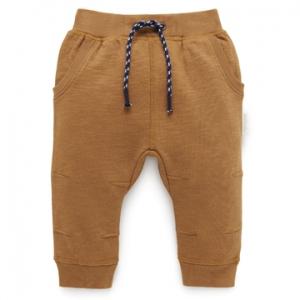 Purebaby有機棉休閒運動褲-咖啡色
